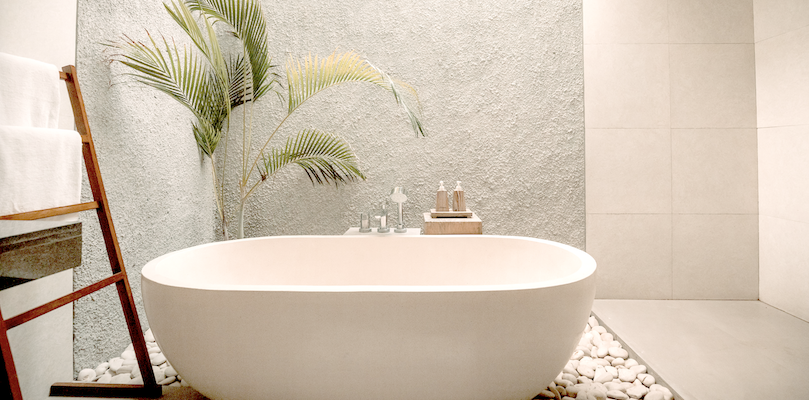 "How to create a ""bathroom oasis"" that's easy, practical and inviting at any budget"
